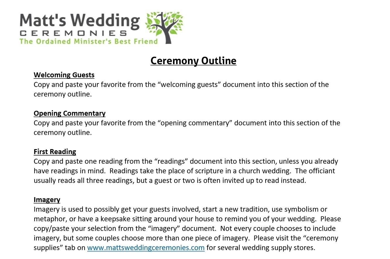 Wedding ceremony samples: Non religious wedding readings - Adam ...